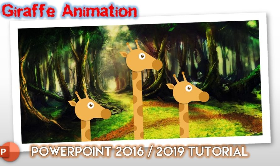 Giraffe Animation in PowerPoint 2016 / 2019 Tutorial