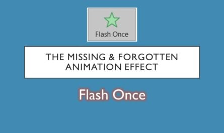 Flash Once Animation Effect in PowerPoint