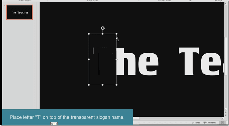 Step 4 - Particles Text Effect PowerPoint