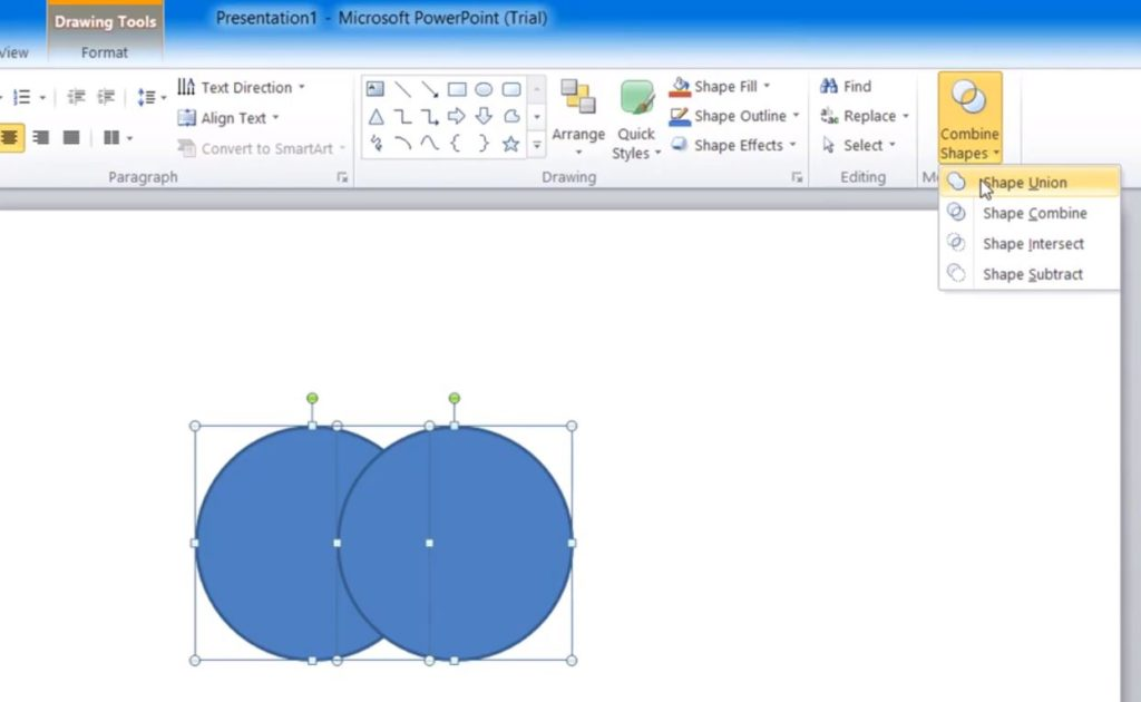 Merge / Combine Shapes in PowerPoint