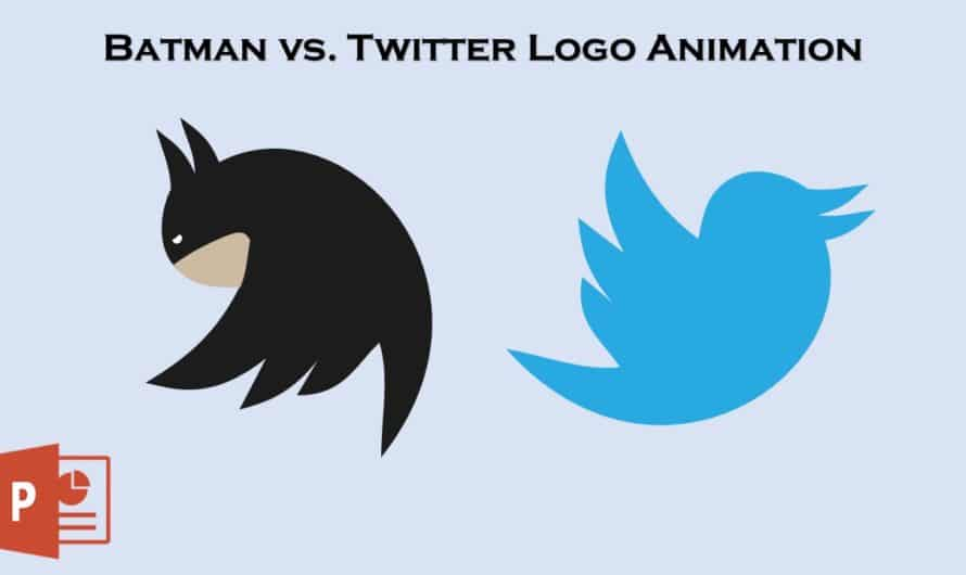Batman vs Twitter Animation in PowerPoint 2016 / 2019 Tutorial