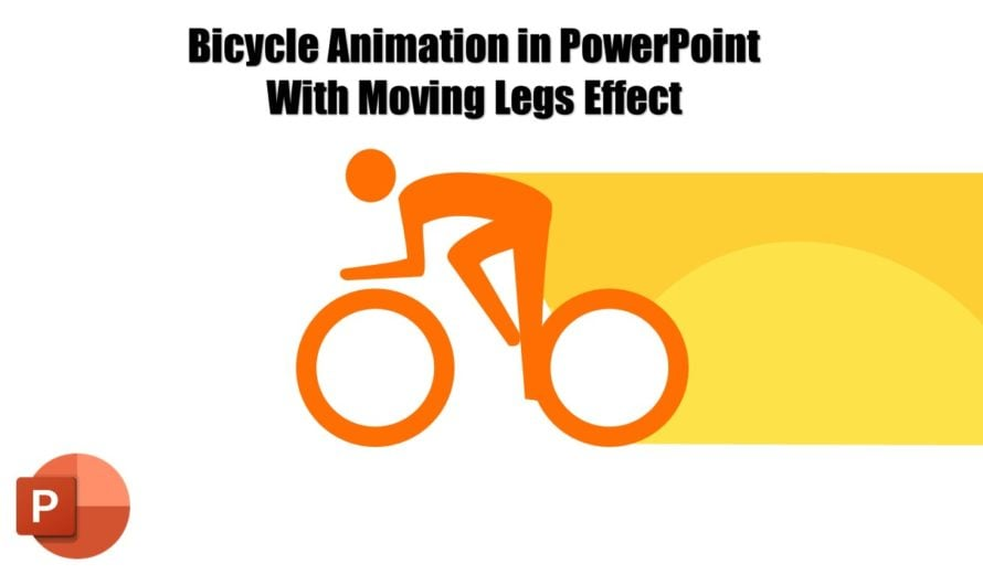 Bicycle Animation in PowerPoint 2016 / 2019 Tutorial with Cyclist Leg Moments