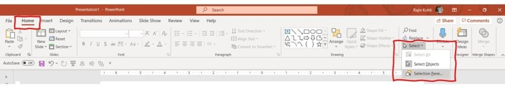 How To Show / Hide Selection Pane in PowerPoint