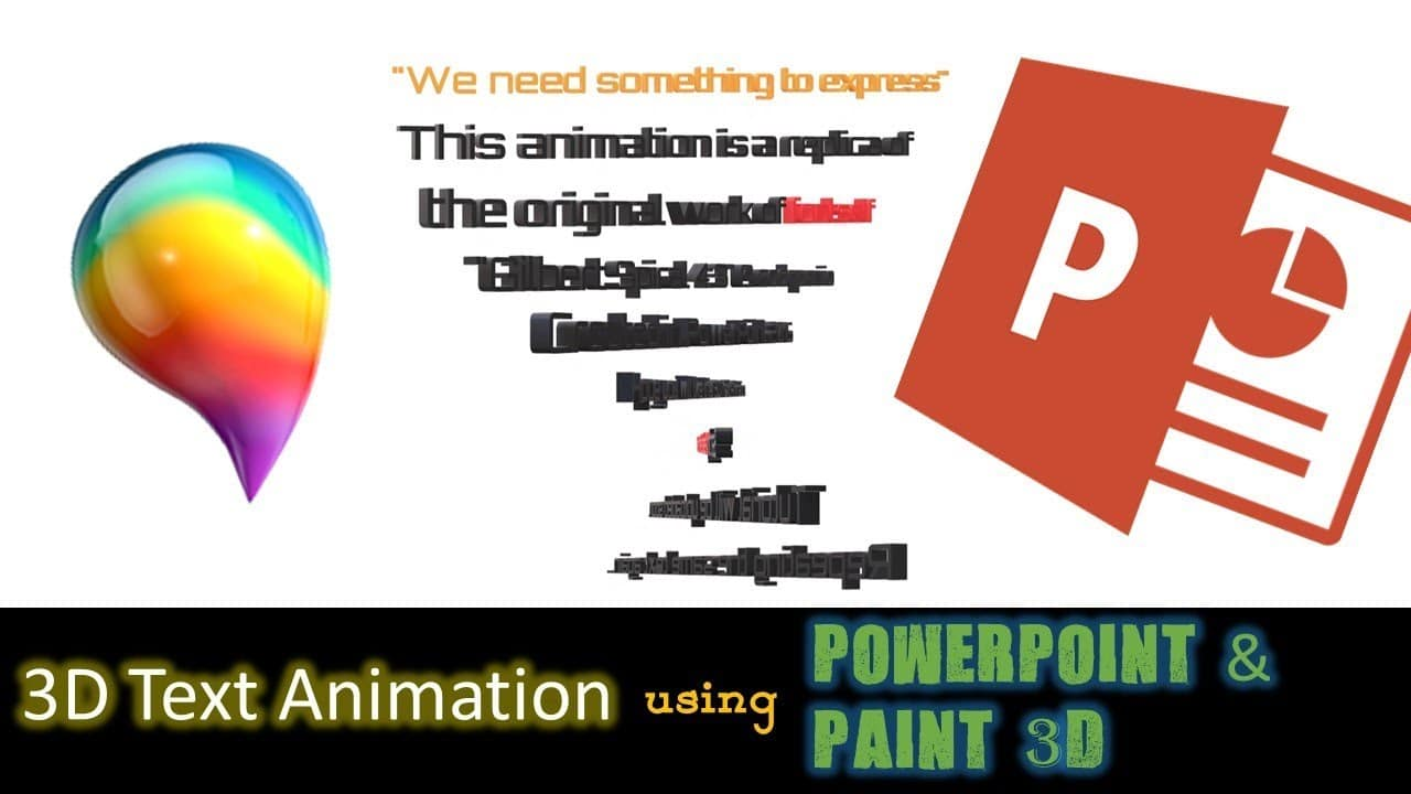 3D Text Animation in PowerPoint