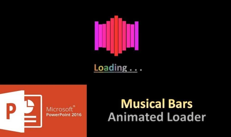 Musical Bars Animated Loader in PowerPoint 2016 Tutorial