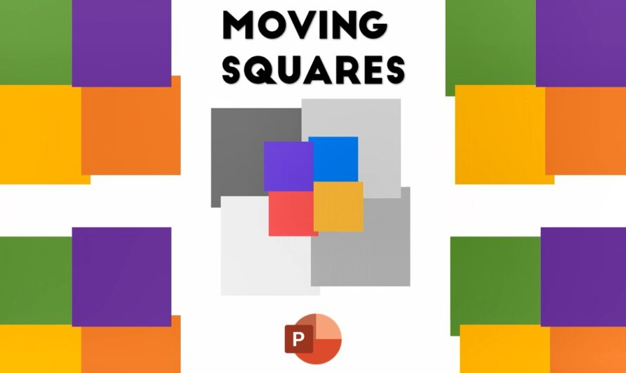 Moving Squares Animation in PowerPoint 2016 Tutorial | Animated Loader