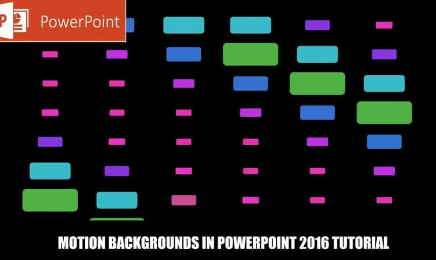 Shapes Animation in PowerPoint 2016 Tutorial | Animated Background