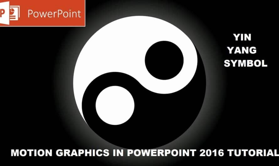 Yin Yang Animation in PowerPoint 2016 Tutorial | Motion Graphics