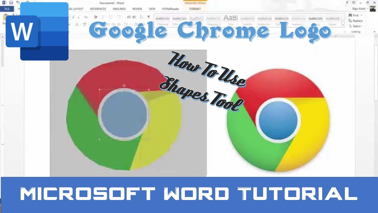 How To Draw Google Chrome Logo in Microsoft Word